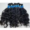 brazilian remy naturally wavy bulk hair for braiding