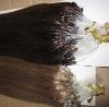 brown remy micro loop indian hair extensions