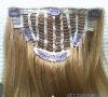 cheap hair extensions clip in full head silky straight