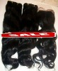 cheap remi loose curl #1 real brazilian human hair weaving