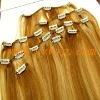 clip hair extension/naked clips/human hair weft/bangs/fringe