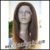 color 1B Kinky full lace wig