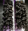 curly brazilian human hair machine-made hair weft