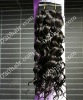 curly brazilian remy hair color1b# in stock,black color also available