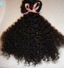 curly hair extensions/Brazilian human hair weaving/remy virgin hair wefts