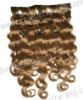 dark blonde hair weft/synthetic deep wave good weft