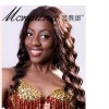 deep wave and brown human hair wig for African market