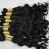 deep wave human virgin bulk hair in stock