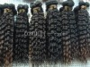 deep wave remy virgin brazilian hair weft,can be dyed