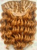 deep weave 100% indian remy human hair full head clip in hair extensions