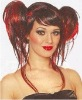 devil / punk rocker synthetic full lace wig