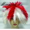 fashion and hotsale White and Red fans wigs
