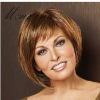 fashion and hotsale short wave human hair wigs for women