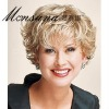 fashion and hotselling short curl human hair wigs for women