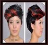 fashion black woman short synthetic wigs YSL-003