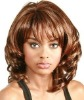 fashion body wave shoulder length synthetic full lace wig with a bang