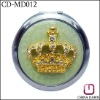 fashion gift crystal 70mm crown cosmetic mirror/fashion cosmetic mirror CD-MD012