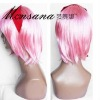 fashion high quality bright pink color Cosplay/doll/party synthetic wig
