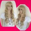 fashion long curl white hair wig