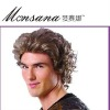 fashionable high quality hotselling short curl full lace wigs for mature men