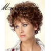 fashionable short curl human hair wigs for women