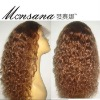fashionable short full lace human hair wig for African American markrt