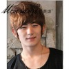 fashionable short full lace wig for men