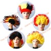 flag gift football fans wig
