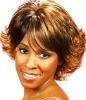 golden short synthetic full lace wig for ladies