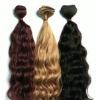 hair weft 100% human hair extension