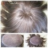 hand made lace toupee mixed color