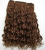 hand tied virgin human hair weft 18 inch natural black color