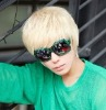 handsome and cool short synthetic straight wig for men