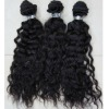 hig qualiyt virgin indian curly hair extension can easy to change texture