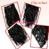 high quality clip in hair 100g/pcs any size,color,texture are available