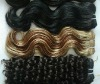 hot sale body wave remi machine made real human hair weft