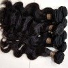 hot selling peruvian and brazilian virgin human hair wefts with thick bottom