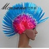 hotselling blue and pink fashionble cock comb fans/cosplay/doll wigs