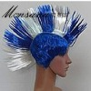 hotselling blue and white fashionble cock comb fans/cosplay/doll wigs