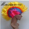 hotselling yellow fashionble cock comb fans/cosplay/doll wigs