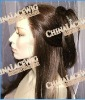 human hair full lace wig can be weared in ponytail