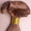 human hair hand tied weft