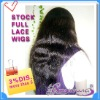 in stock Indian remy hair silk straight lace front wig accept paypal