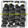 indian hair extension natural wave 100g/pcs