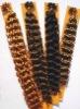 indian human hair deep wave Keratin hair extensions