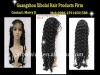 "indian human hair full lace wig  24""deep  wave  color 1# >210g"