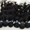 indian remi loose curl hair weft natural black color in stock