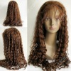 indian remy cuticle human hair wig with medium brown lace