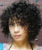 lace wig/women's short hair wig/short curls/fashion wig/lace wig/Liu Qi/synthetic wig