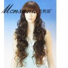 long deep wave human hair full lace wig for black women